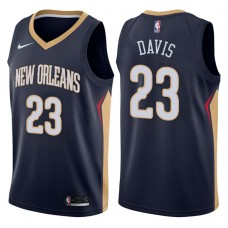 2017-18 Season Anthony Davis New Orleans Pelicans #23 Icon Navy Swingman Jersey