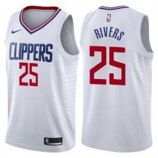 2017-18 Season Austin Rivers Los Angeles Clippers #25 Association White Swingman Jersey