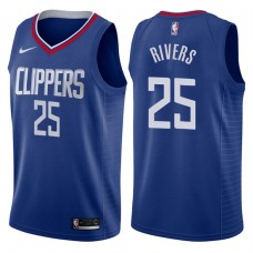 2017-18 Season Austin Rivers Los Angeles Clippers #25 Icon Blue Swingman Jersey