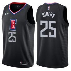 2017-18 Season Austin Rivers Los Angeles Clippers #25 Statement Black Swingman Jersey