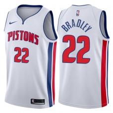 2017-18 Season Avery Bradley Detroit Pistons #22 Association White Swingman Jersey