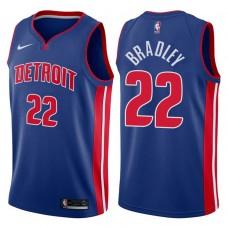 2017-18 Season Avery Bradley Detroit Pistons #22 Icon Blue Swingman Jersey