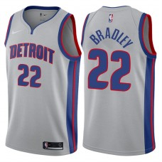 2017-18 Season Avery Bradley Detroit Pistons #22 Statement Gray Swingman Jersey