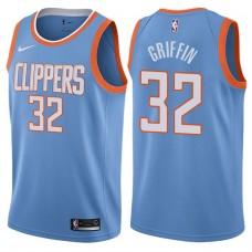 2017-18 Season Blake Griffin Los Angeles Clippers #32 City Edition Blue Swingman Jersey
