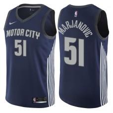 2017-18 Season Boban Marjanovic Detroit Pistons #51 City Edition Navy Swingman Jersey