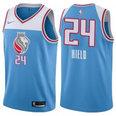 2017-18 Season Buddy Hield Sacramento Kings #24 City Edition Blue Swingman Jersey