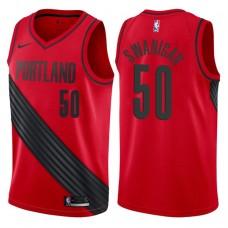 2017-18 Season Caleb Swanigan Portland Trail Blazers #50 Statement Red Swingman Jersey