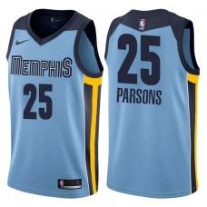 2017-18 Season Chandler Parsons Memphis Grizzlies #25 Icon Blue Swingman Jersey