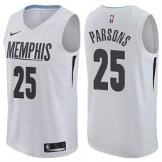 2017-18 Season Chandler Parsons Memphis Grizzlies #25 City Edition White Swingman Jersey