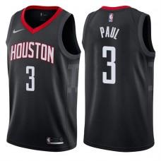 2017-18 Season Chris Paul Houston Rockets #3 Statement Black Swingman Jersey
