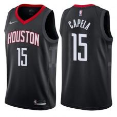 2017-18 Season Clint Capela Houston Rockets #15 Statement Black Swingman Jersey