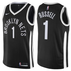 2017-18 Season D'Angelo Russell Brooklyn Nets #1 City Edition Black Swingman Jersey