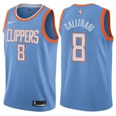 2017-18 Season Danilo Gallinari Los Angeles Clippers #8 City Edition Blue Swingman Jersey
