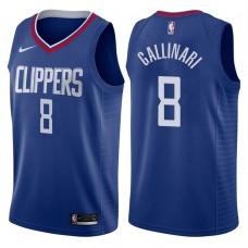2017-18 Season Danilo Gallinari Los Angeles Clippers #8 Icon Blue Swingman Jersey