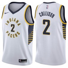 2017-18 Season Darren Collison Indiana Pacers #2 Association White Swingman Jersey