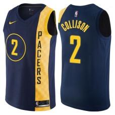 2017-18 Season Darren Collison Indiana Pacers #2 City Edition Navy Swingman Jersey