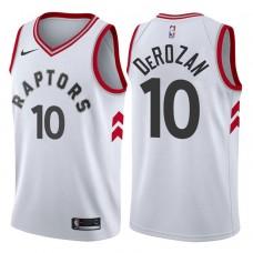 2017-18 Season DeMar DeRozan Toronto Raptors #10 Association White Swingman Jersey