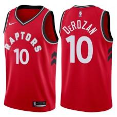 2017-18 Season DeMar DeRozan Toronto Raptors #10 Icon Red Swingman Jersey