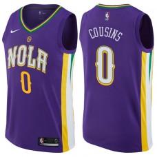 2017-18 Season DeMarcus Cousins New Orleans Pelicans #0 City Edition Purple Swingman Jersey