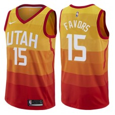 2017-18 Season Derrick Favors Utah Jazz #15 City Edition Red Swingman Jersey