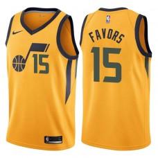 2017-18 Season Derrick Favors Utah Jazz #15 Statement Gold Swingman Jersey