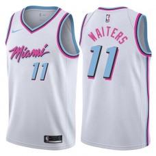 2017-18 Season Dion Waiters Miami Heat #11 City Edition White Swingman Jersey