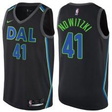 2017-18 Season Dirk Nowitzki Dallas Mavericks #41 City Edition Black Swingman Jersey