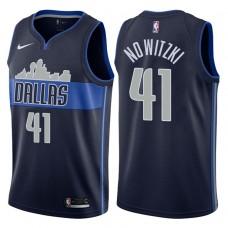 2017-18 Season Dirk Nowitzki Dallas Mavericks #41 Statement Navy Swingman Jersey