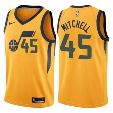 2017-18 Season Donovan Mitchell Utah Jazz #45 Statement Gold Swingman Jersey