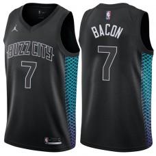 2017-18 Season Dwayne Bacon Charlotte Hornets #7 City Edition Black Swingman Jersey