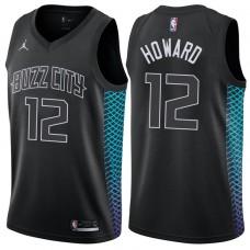 2017-18 Season Dwight Howard Charlotte Hornets #12 City Edition Black Swingman Jersey
