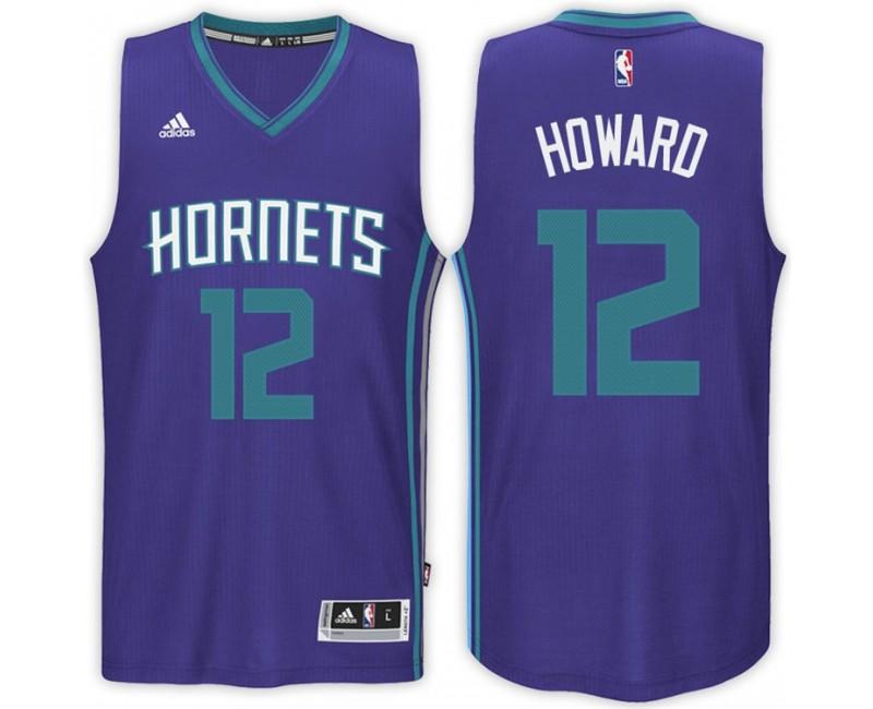 Dwight Howard Charlotte Hornets #12 Road Purple New Swingman Jersey