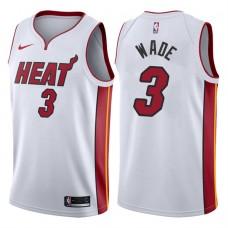 2017-18 Season Dwyane Wade Miami Heat #3 Association White Swingman Jersey