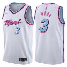 2017-18 Season Dwyane Wade Miami Heat #3 City Edition White Swingman Jersey