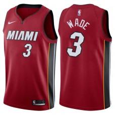 2017-18 Season Dwyane Wade Miami Heat #3 Icon Red Swingman Jersey
