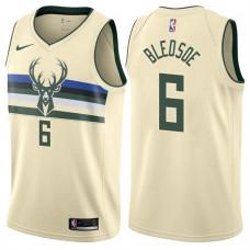 2017-18 Season Eric Bledsoe Milwaukee Bucks #6 City Edition Cream Swingman Jersey