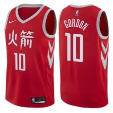 2017-18 Season Eric Gordon Houston Rockets #10 City Edition Red Swingman Jersey