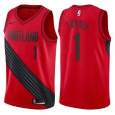 2017-18 Season Evan Turner Portland Trail Blazers #1 Statement Red Swingman Jersey