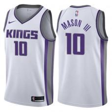 2017-18 Season Frank Mason III Sacramento Kings #10 Association White Swingman Jersey