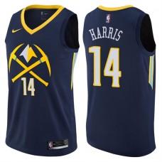 2017-18 Season Gary Harris Denver Nuggets #14 City Edition Navy Swingman Jersey