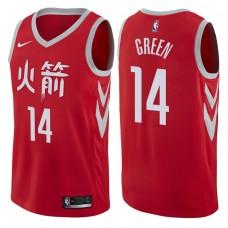 2017-18 Season Gerald Green Houston Rockets #14 City Edition Red Swingman Jersey