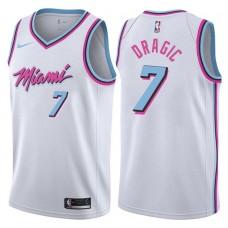 2017-18 Season Goran Dragic Miami Heat #7 City Edition White Swingman Jersey