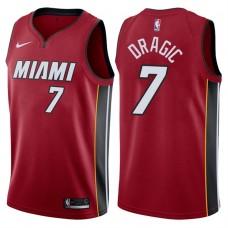 2017-18 Season Goran Dragic Miami Heat #7 Statement Red Swingman Jersey