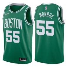 2017-18 Season Greg Monroe Boston Celtics #55 Icon Green Swingman Jersey