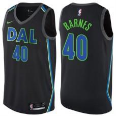 2017-18 Season Harrison Barnes Dallas Mavericks #40 City Edition Black Swingman Jersey