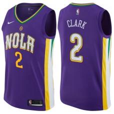 2017-18 Season Ian Clark New Orleans Pelicans #2 City Edition Purple Swingman Jersey
