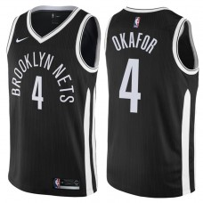 2017-18 Season Jahlil Okafor Brooklyn Nets #4 City Edition Black Swingman Jersey
