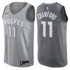 2017-18 Season Jamal Crawford Minnesota Timberwolves #11 City Edition Gray Swingman Jersey