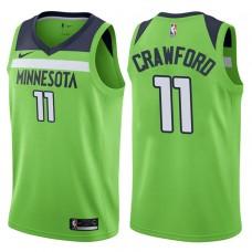 2017-18 Season Jamal Crawford Minnesota Timberwolves #11 Statement Green Swingman Jersey