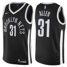 2017-18 Season Jarrett Allen Brooklyn Nets #31 City Edition Black Swingman Jersey